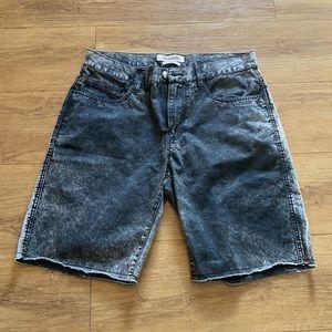 "Quiksilver Mens Denim Slim Shorts Rugged Size 32"""